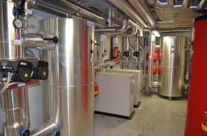 IL LOCALE TECNICO a servizio dell'impianto di climatizzazione realizzato.