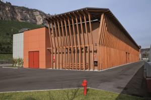LA CENTRALE TERMICA del quartiere Le Albere progettato da Renzo Piano con grande attenzione al risparmio energetico.
