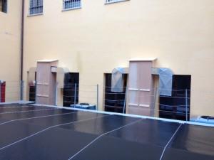 L'IMPIANTO. Sono stati installati due condizionatori ad aria e tre ad acqua della serie Liebert HPM.