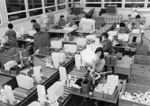 LO STABILIMENTO produttivo Geberit negli anni Sessanta