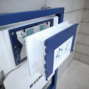 IL MODULO di installazione Geberit Duofix, dettaglio di cantiere
