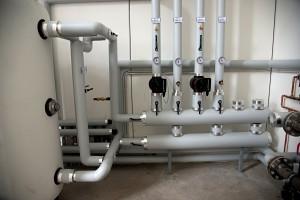 LE POMPE. Nel locale tecnico sono state installate pompe Magna 3 di Grundfos.
