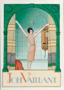 1924. Campagna pubblicitaria scaldabagno Vaillant