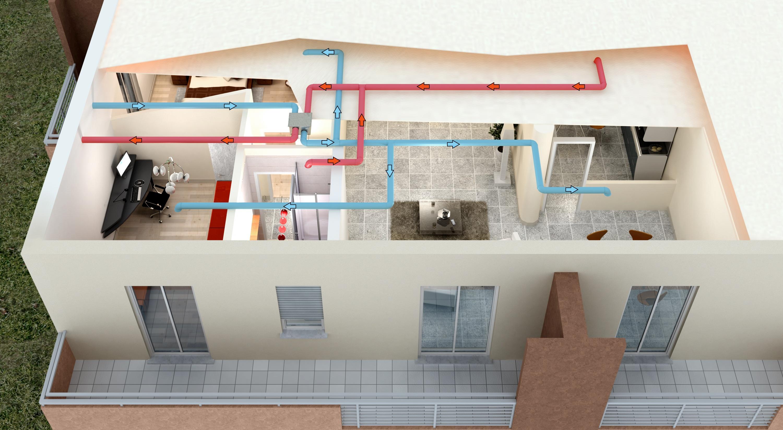 Ventilazione centralizzata con recupero calore gt il - Ventilazione recupero calore ...