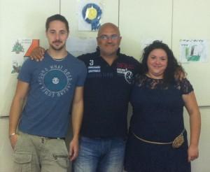L'INTERVISTATO. Al centro della foto Andrea Zucconi, titolare di Zucconi impianti di Rodano (MI) insieme a Federico Perego ed Elena Caravita.