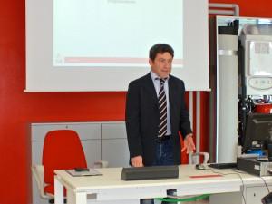 Alfredo Amadei Vicepresidente Immergas durante il meeting l'Agenda Digitale Immergas.