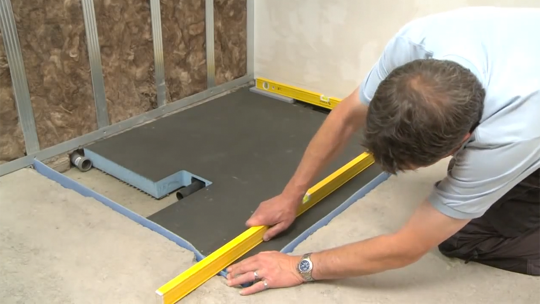 Sistema sottile e completo per docce a filo pavimento gt