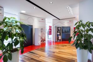 Lo showroom di Hermann Saunier Duval a Milano.