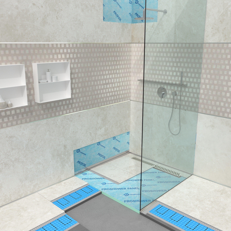 Soluzioni innovative per docce a filo pavimento progress profiles - Impermeabilizzazione piastrelle doccia ...
