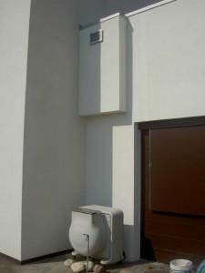 LA QUALITÀ DELL'ARIA, fondamentale in una casa termicamente molto isolata, è affidata all'unità di rinnovo aria ELFOFresh2 che provvede al ricambio dell'aria, alla filtrazione e alla deumidifica estiva.