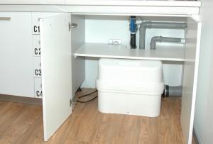 IL CUORE dell'impianto di sollevamento acqua di scarico realizzato presso la Clinica del sorriso di Padova.