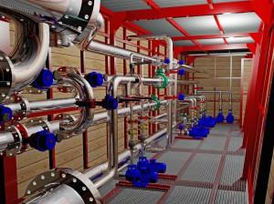 NELLA CENTRALE tecnologica: vista interna della sala pompe.