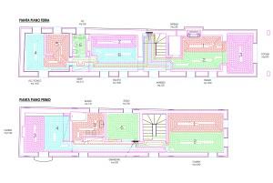 Lo schema di progetto dell'impianto a pavimento.
