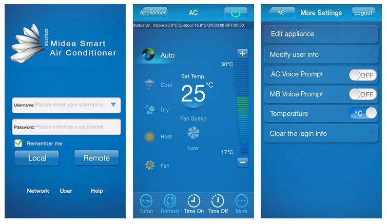 Midea smart app