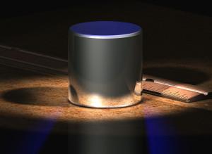CAMPIONE di un chilogrammo conservato a Sèvres (rielaborazione computerizzata).