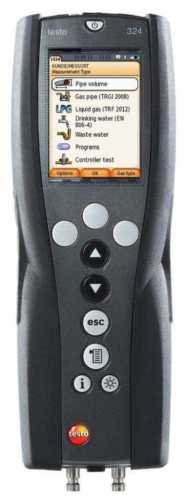 Kit essential Testo 324 per prove di tenuta UNI 11137