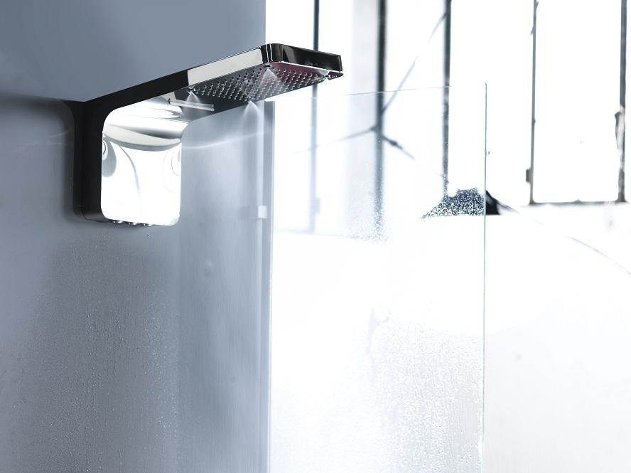 Soffione doccia a muro teseo tre getti in uno con nebulizzazione